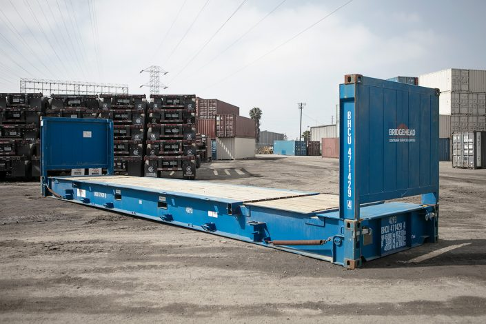 20 foot, flat rack, cargo-worthy, shipping container